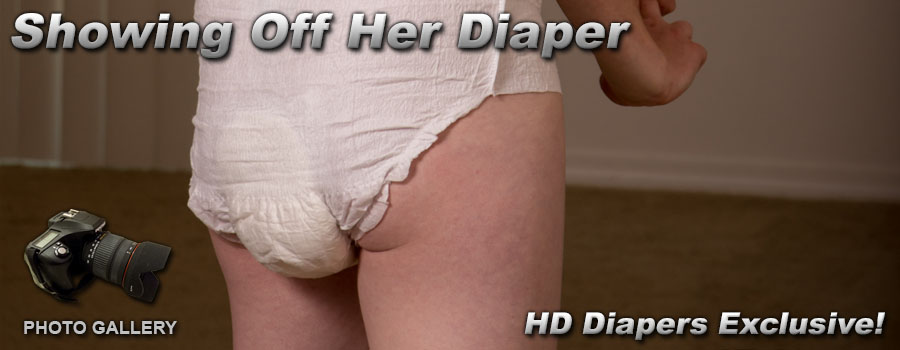 Photos- Showing Off Her Diaper