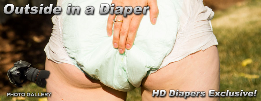 Photos- Outside in a Diaper
