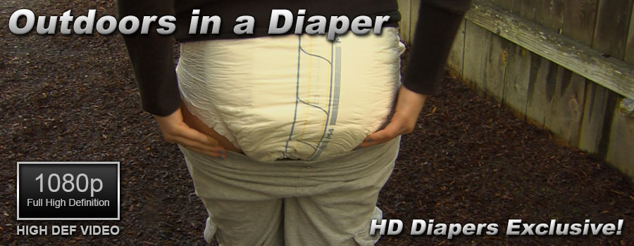 Outdoors in a Diaper