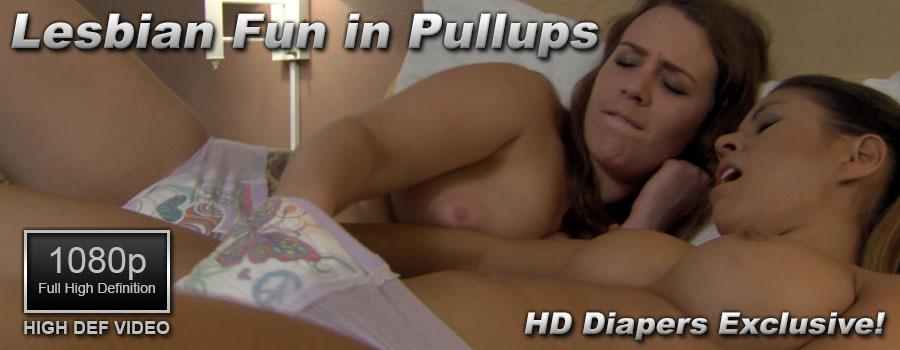 Lesbian Fun in Pullups