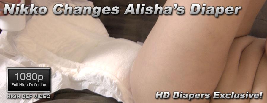 Nikko Changes Alisha's Diaper