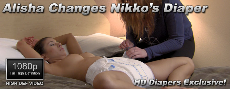 Alisha Changes Nikko's Diaper