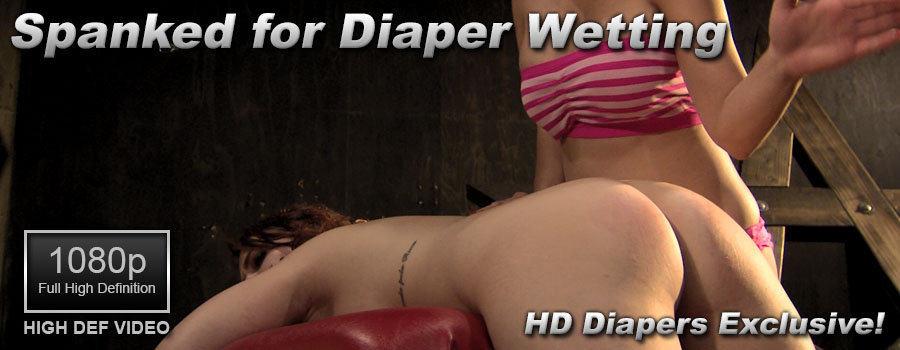 Spanked for Diaper Wetting