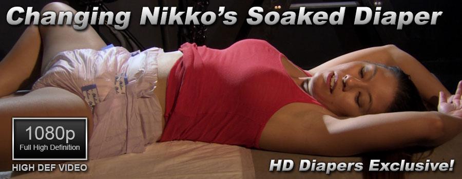 Changing Nikko's Soaked Diaper