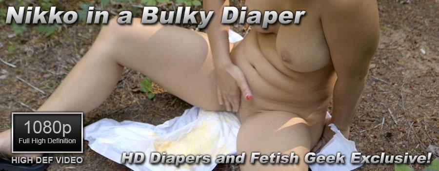 Nikko in a Bulky Diaper