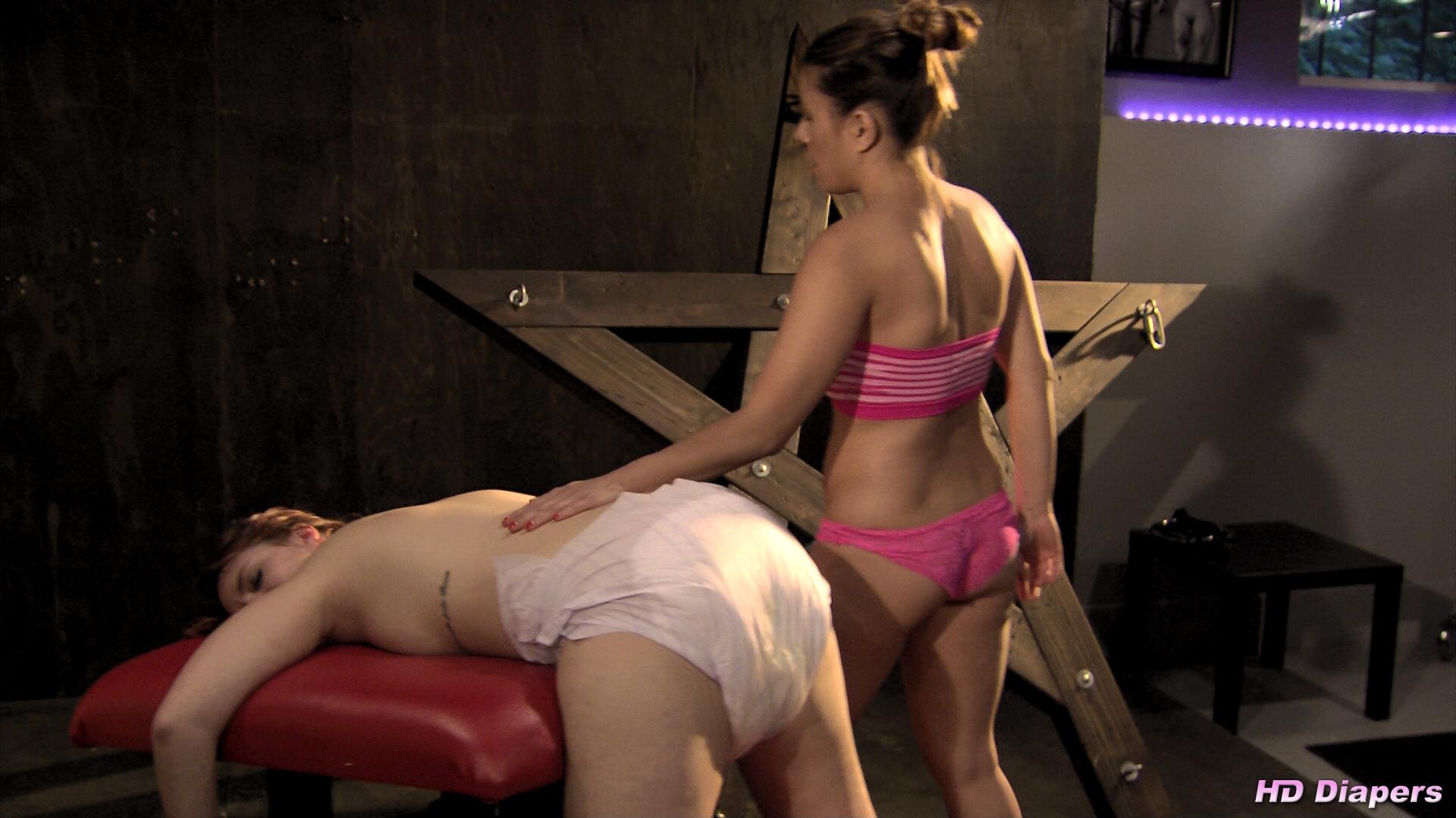 Diaper panty spank