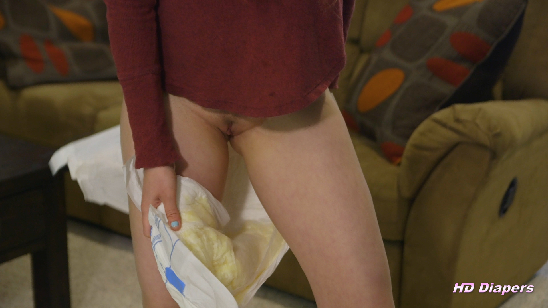 Teenage girl in a diaper pussy 11