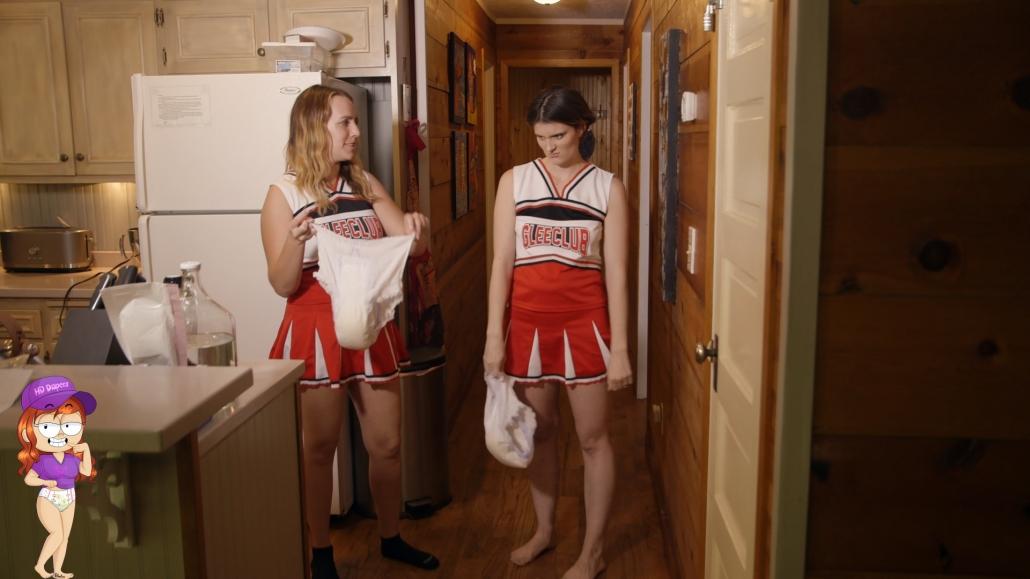 Cheerleaders Potty Secret - HD Diapers