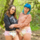 Alisha and Olivia pose together in their thick, tabbed, adult-baby style diapers.